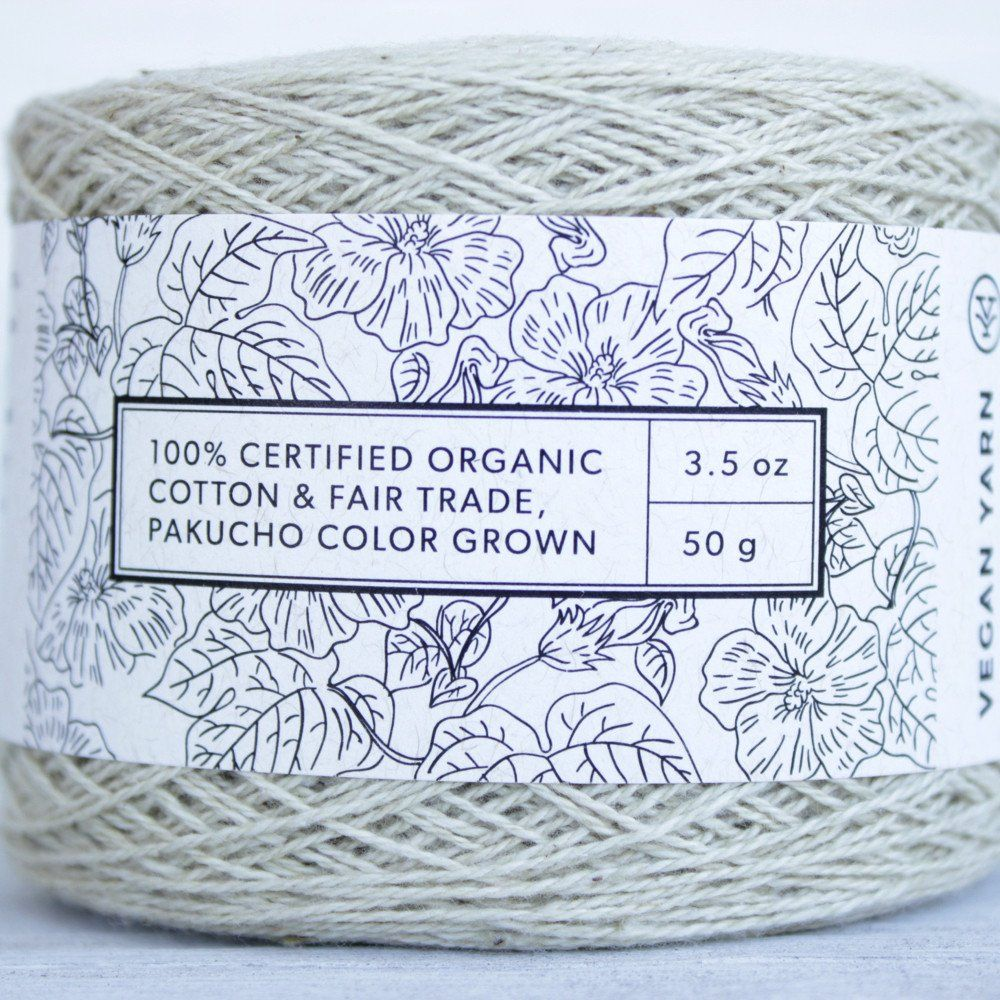 Sage lace organic cotton vegan yarn canadianmade textile