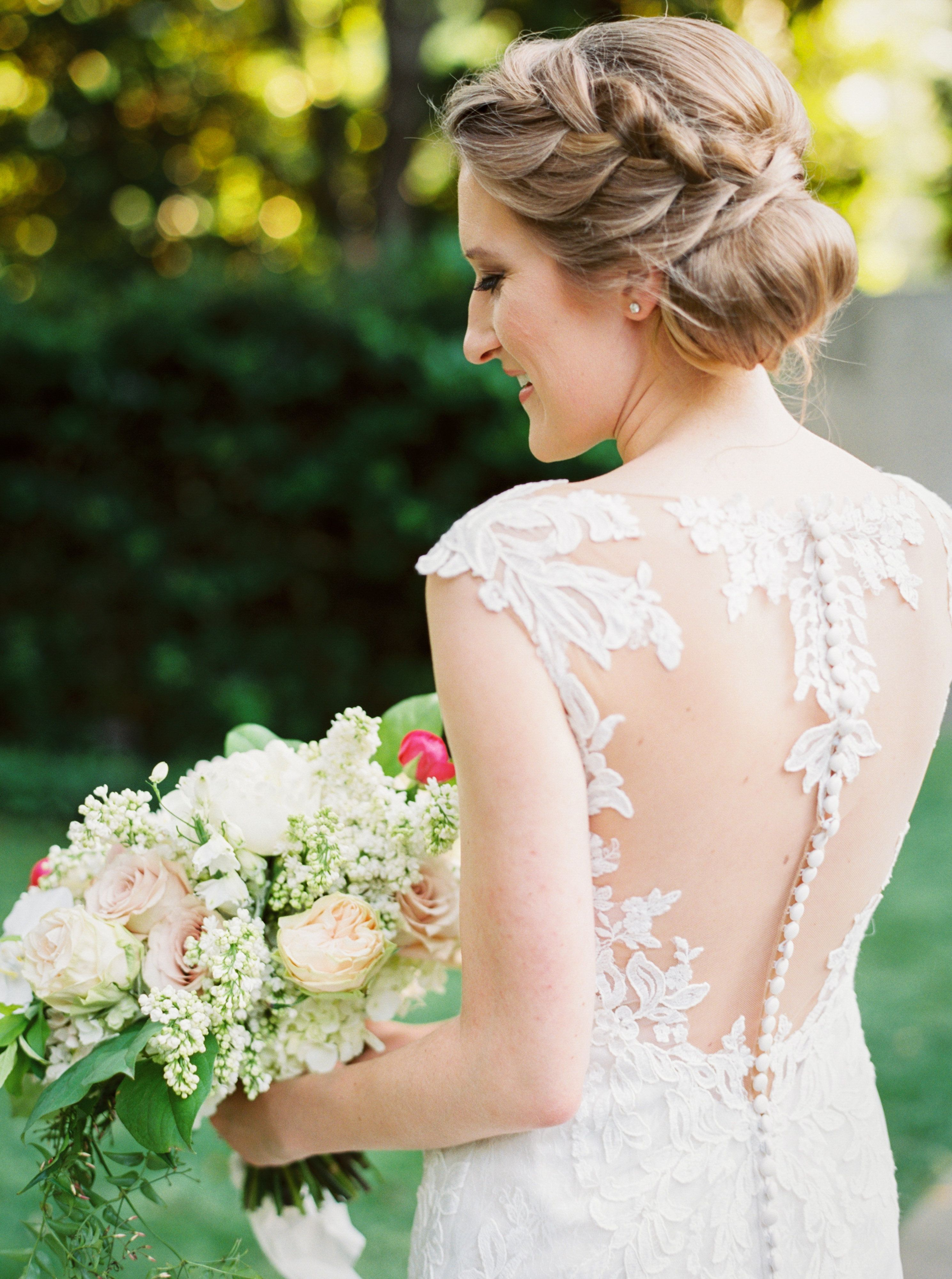 Rebecca's Bridal Portraits Elegant Braid Modern Bride
