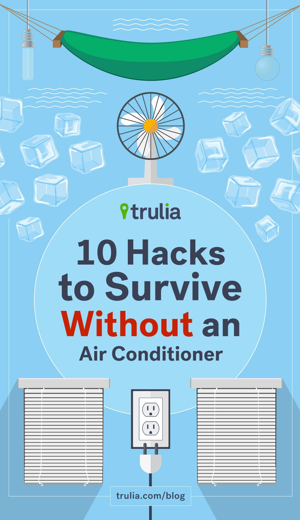10 Hacks To Survive Without An Air Conditioner Trulia S Blog Life At Home Diy Air Conditioner Homemade Air Conditioner Air Conditioner