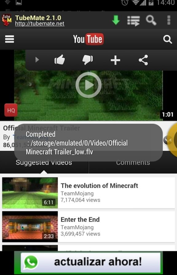 Tubemate YouTube Videos Downloader Free APK Buy