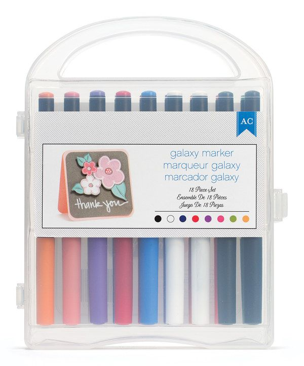 Look at this Galaxy Marker Set on #zulily today!
