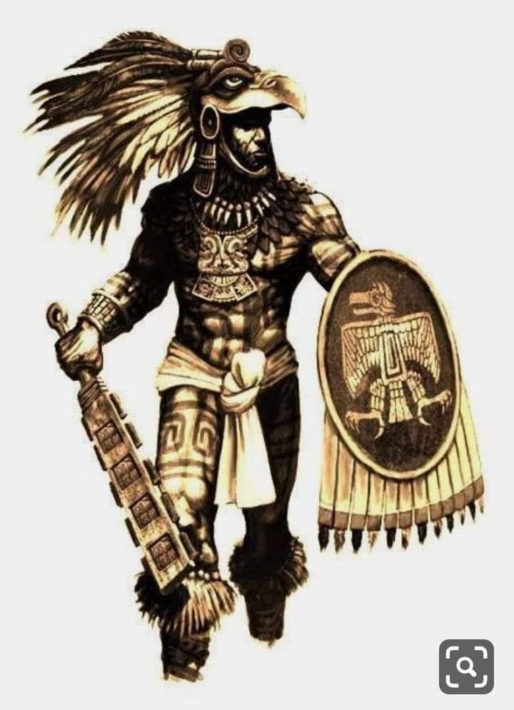 Tattoo Sourcebook Phoenix: Aztec Warrior Tattoo, Aztec