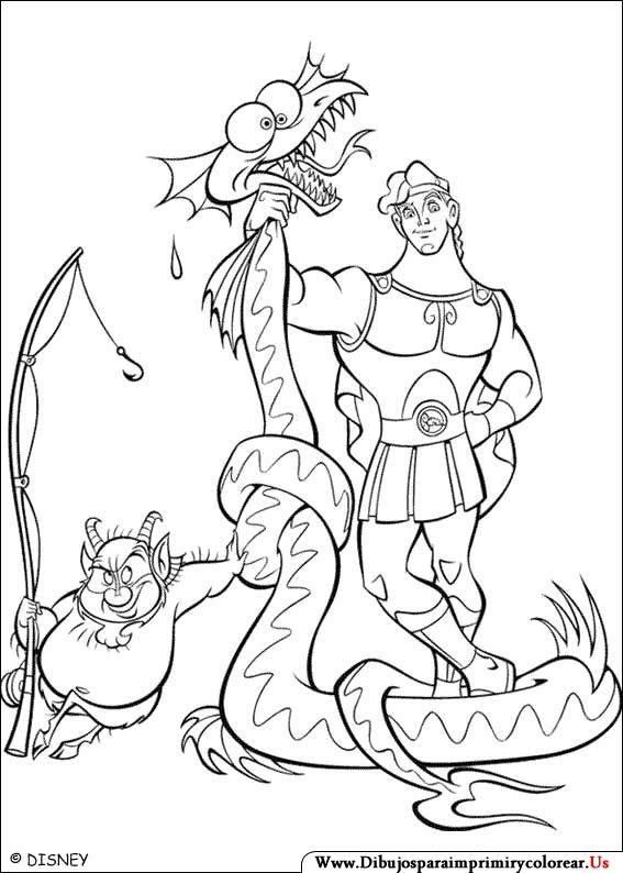 Dibujos de Hercules para Imprimir y Colorear | animation | Pinterest ...