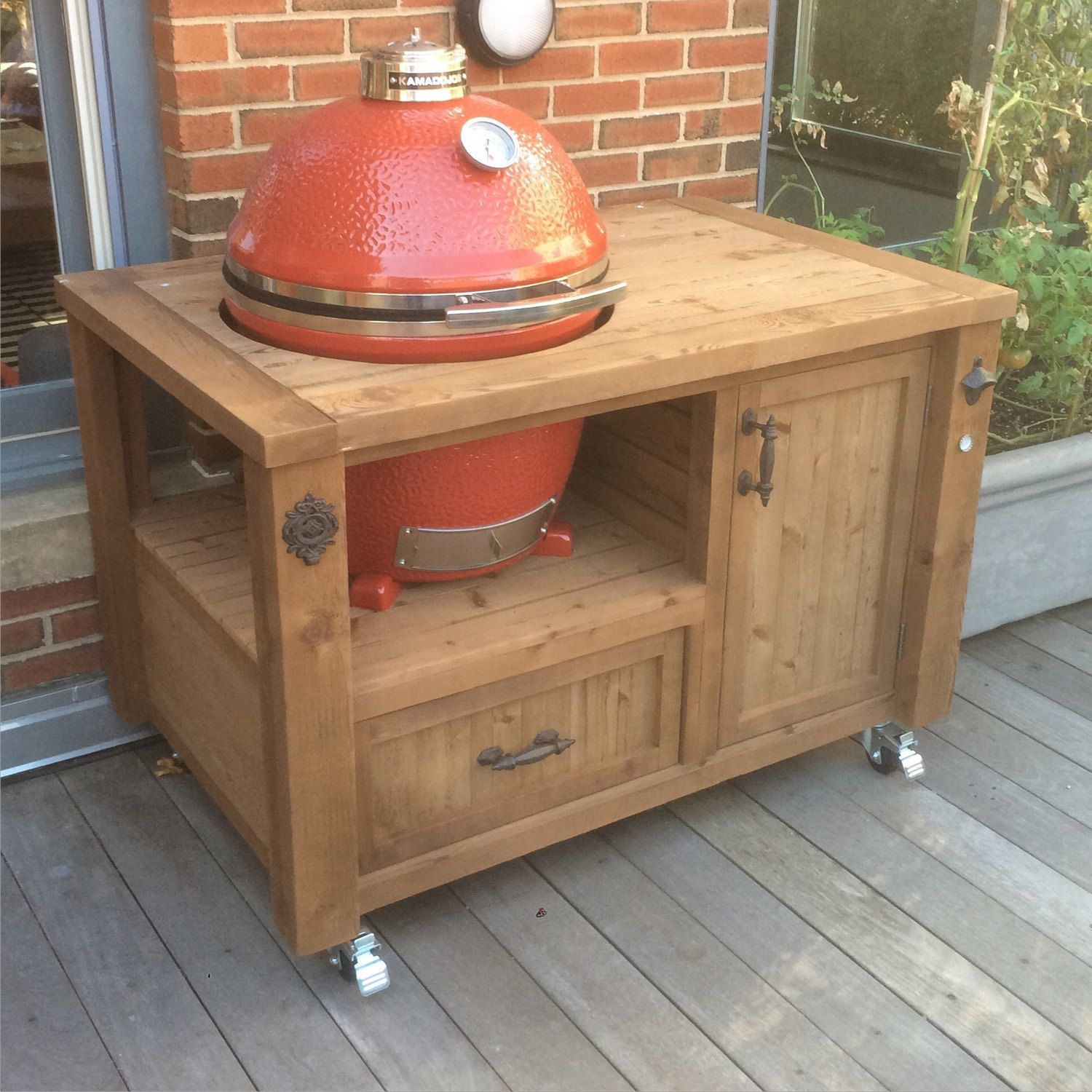 outdoor kitchen cart barbecue take 200 off your combo kamado joe grill and