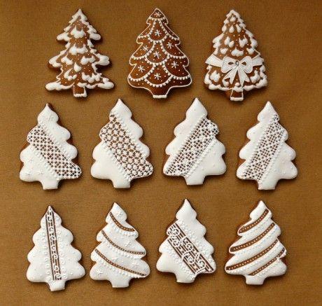 Vianocne Gingerbread Galletas Decoradas Navidad Galletas De
