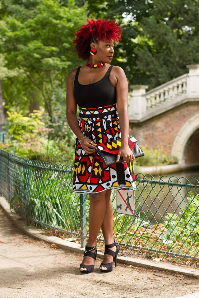 high waist skirt in african kente cloth pink short skirts and mini skirts red for her