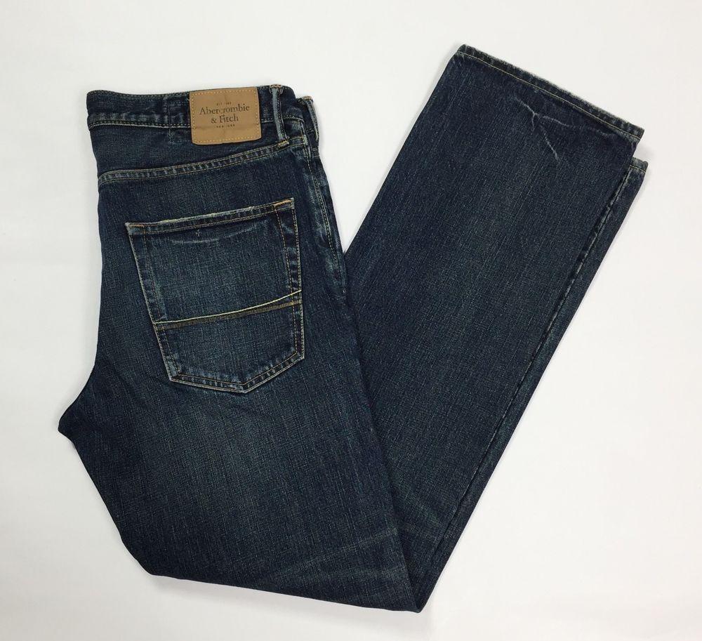 Abercrombie fitch remsen jeans uomo usato gamba dritta w34 tg 50 boyfriend  T3840 21f7eaed2cc