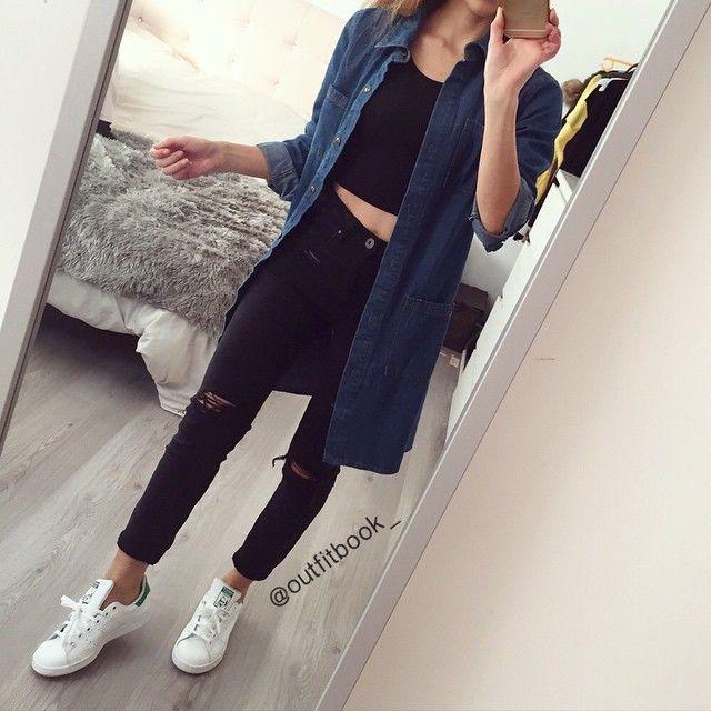 Black x Grey Le jean gris avec zip est maintenant disponible en noir (celui que je porte sur la photo ☺  ✔  ) www.outfitbook.fr Padgram