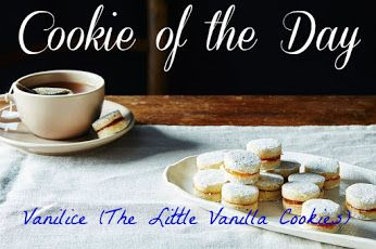 COOKIE OF THE DAY  Vanilice (The Little Vanilla Cookies)...Try it: www.teelieturner.com  An Heirloom Cookie Essential on the Serbian Holiday Table. #cookieoftheday