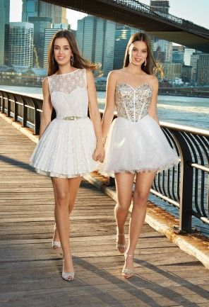 Prom Dresses 2013 - Short Lace Illusion Dress from Camille La Vie ...