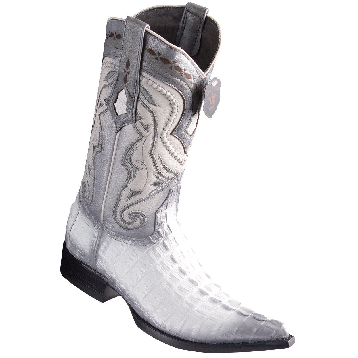 6d37e71e149 Los Altos Boots Caiman Tail White Pointed Toe Cowboy Boots in 2019 ...