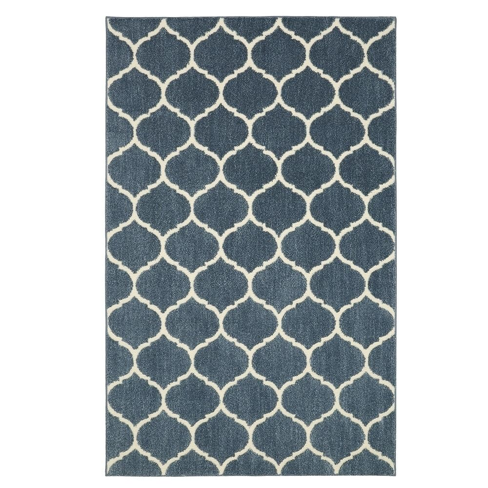 Mohawk Home Nomad Kalispell Area Rug 8 X 10 Blue Polyester