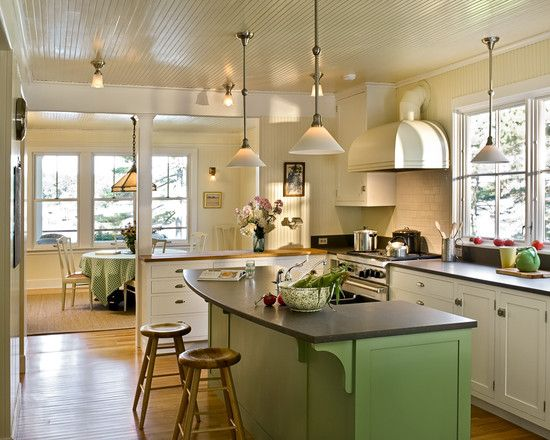 U shaped kitchen nice way to open up dining room wall with for U shaped dining room