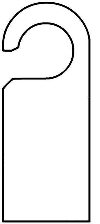 Plantilla infantil colgador puerta aprender manualidades - Colgador de puerta ...