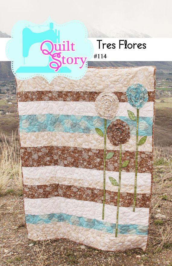 Tres Flores PDF Quilt Pattern