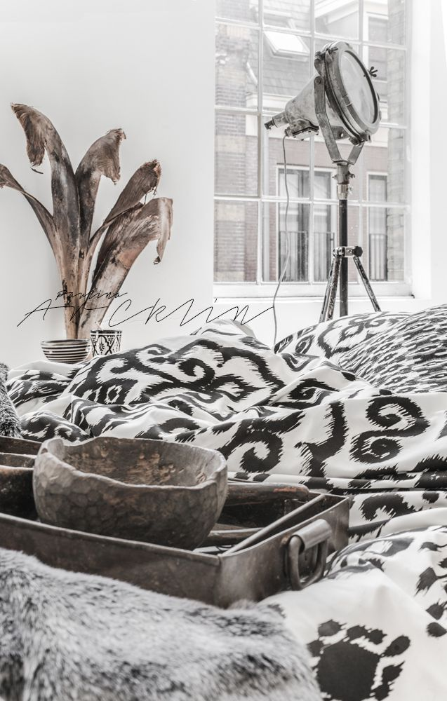 ... © Paulina Arcklin   NOMADS Panthera Ikat bedding available on www.bohzaar.co.uk ...: