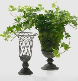 Superieur Get Creative With This Wire Garden Urn. Add Moss And Plants For A Natural  Centerpiece, Or Decorative Balls Or Fruit For Something Colorful.
