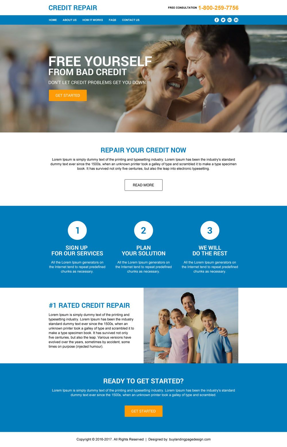 Responsive Credit Repair Html Website Template Design For Sale - Html site template