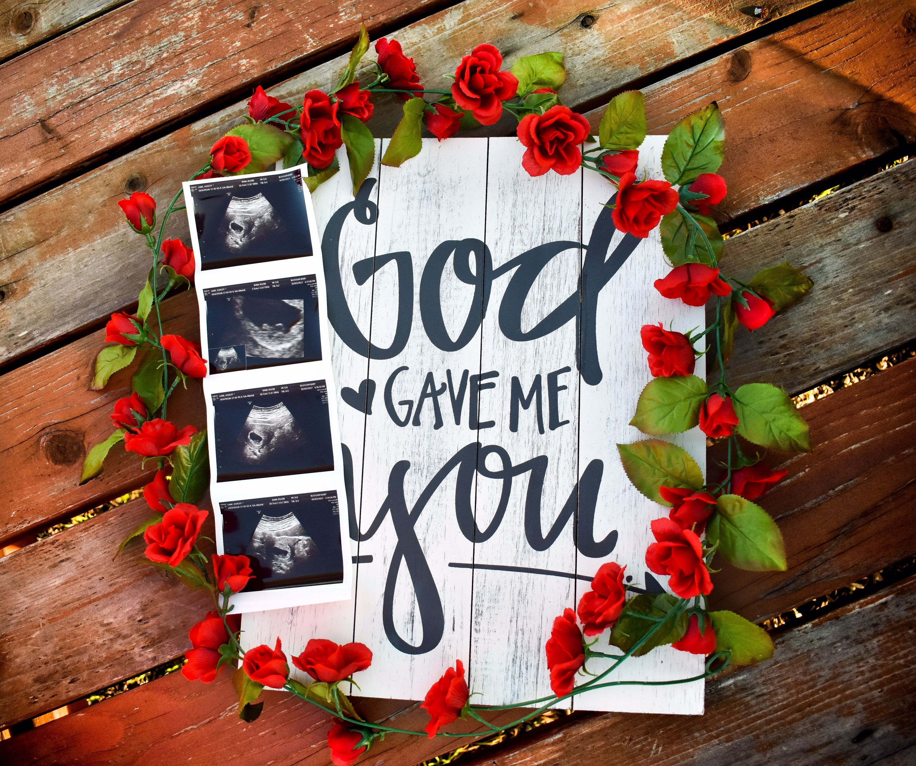 This was my baby announcement that we did!! I just LOVE ...