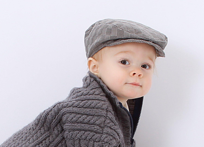 Baby Flat Cap in Grey Checkerboard AKA Irish or Newsboy Hat.  35.00 ... 9e2b44bf7b0b