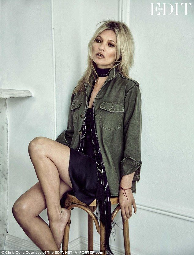 Make like Mossy in a military jacket from her Equipment collection   Click 'Visit' to buy now  #DailyMail