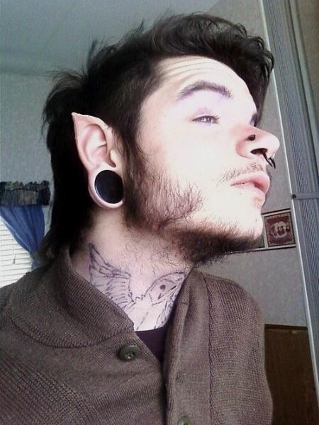 f62742f3e guy Facial Piercings, Ear Piercings, Piercing Tattoo, Septum, Pointed Ears,  Tunnels