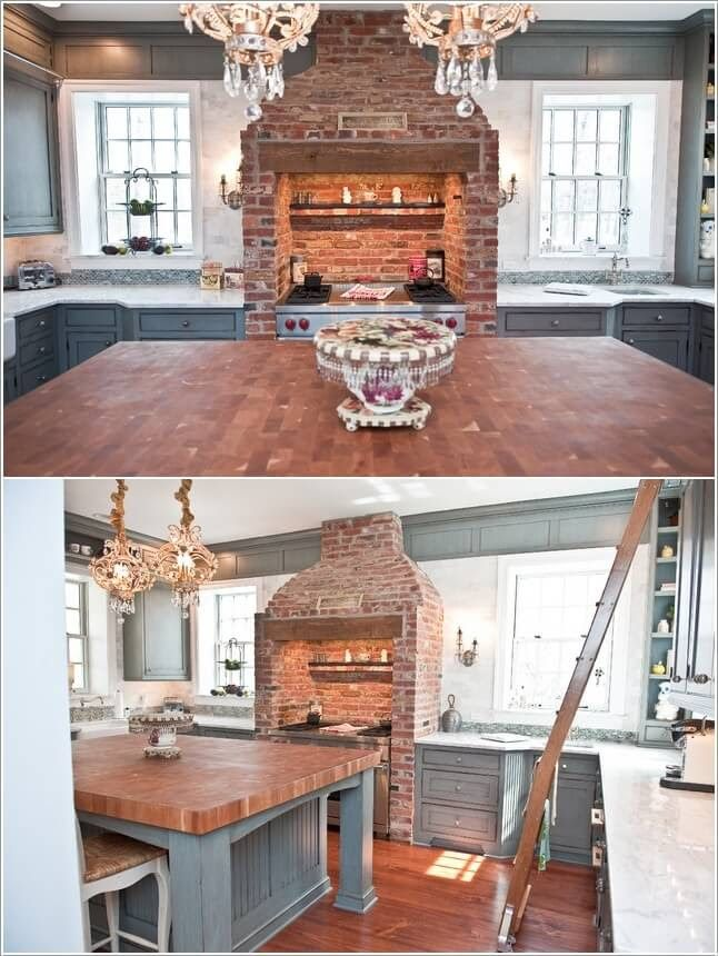 Install An Exposed Brick Hood In Your Kitchen