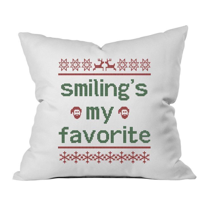 Elf Smilings My Favorite Pillow cover fragile lamp Christmas decor Christmas Pillow Cover Ugly Sweat