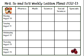Printable Lesson Plan Lesson Plan Template Horizontal Teachers - Preschool weekly lesson plan template