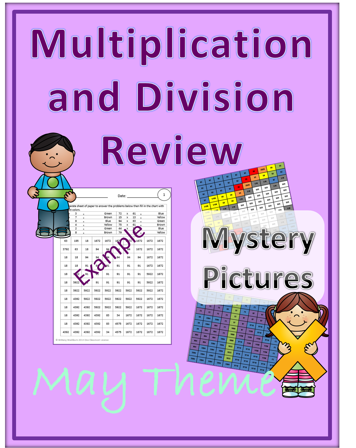 Multiplication And Division Review Mystery Pictures May