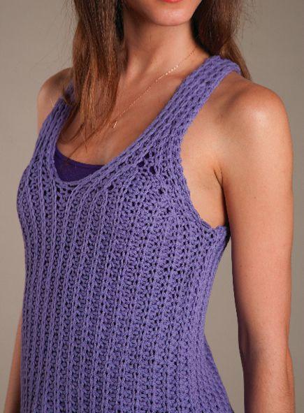Knit Tank Top Free Knitting Pattern