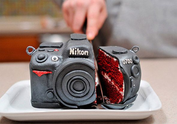 Bolo para fotógrafo