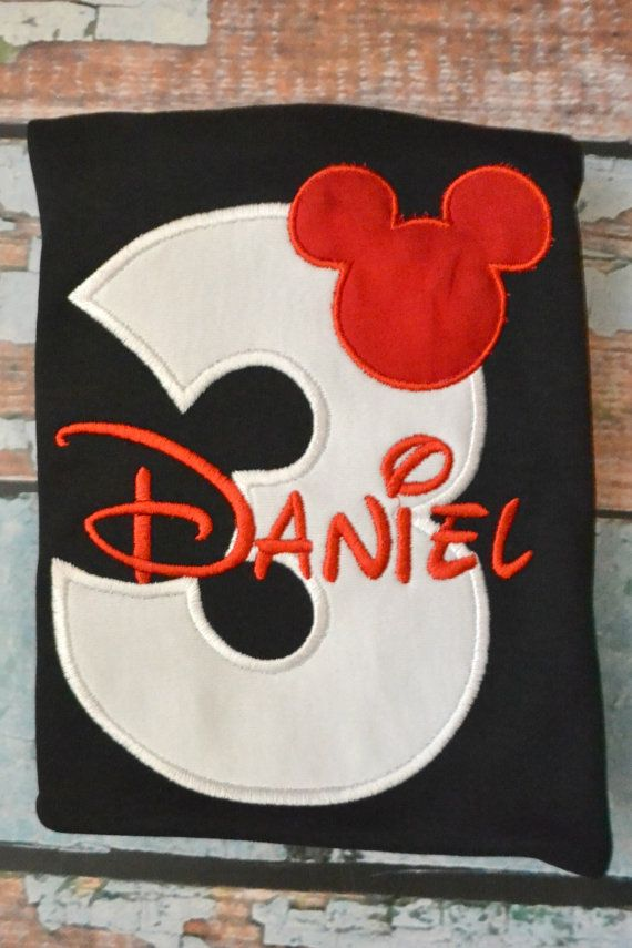 Birthday Mickey Mouse Applique Shirt Disney by SpoiledSweetkids
