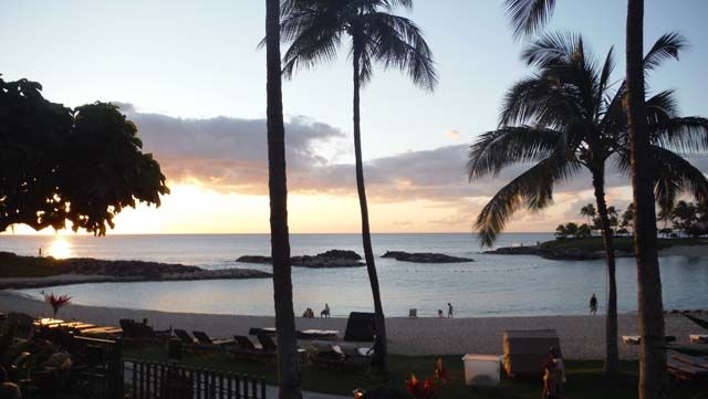 Sunsets at the Marriott Ko Olina Beach Club
