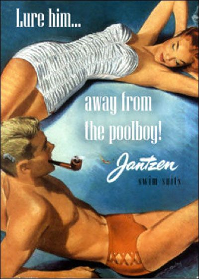 I Don T Know If He S That Into The Poolboy There Probably Isn T Much You Can Do Old Ads Vintage Advertisements Vintage Ads