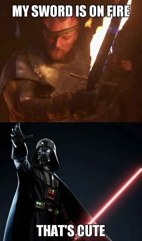 Star Wars Vs Game Of Thrones Battle Is Epic Star Wars Memes Star Wars Humor Star Wars Nerd