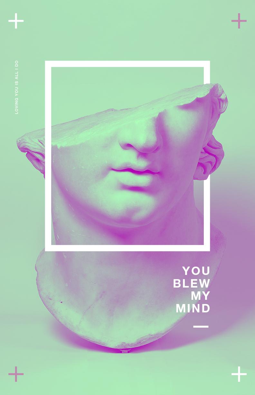 Vaporwave Typography Poster
