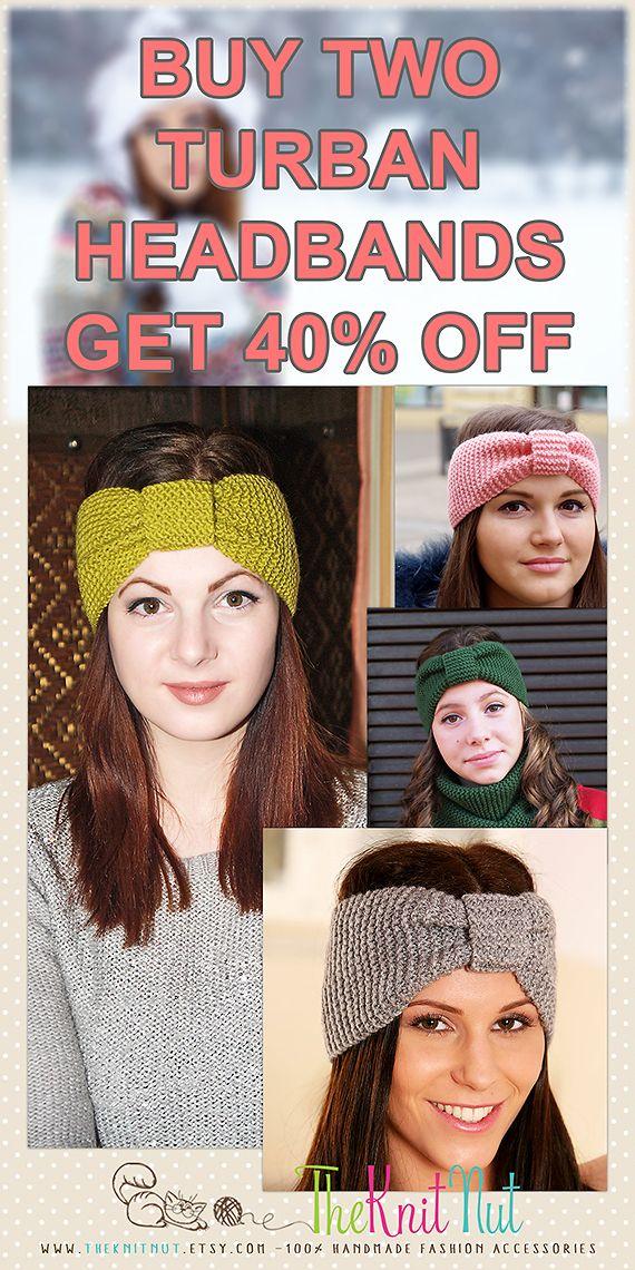 Knit Headband, Knit Ear Warmer, Winter Headband, Turban Headband ...