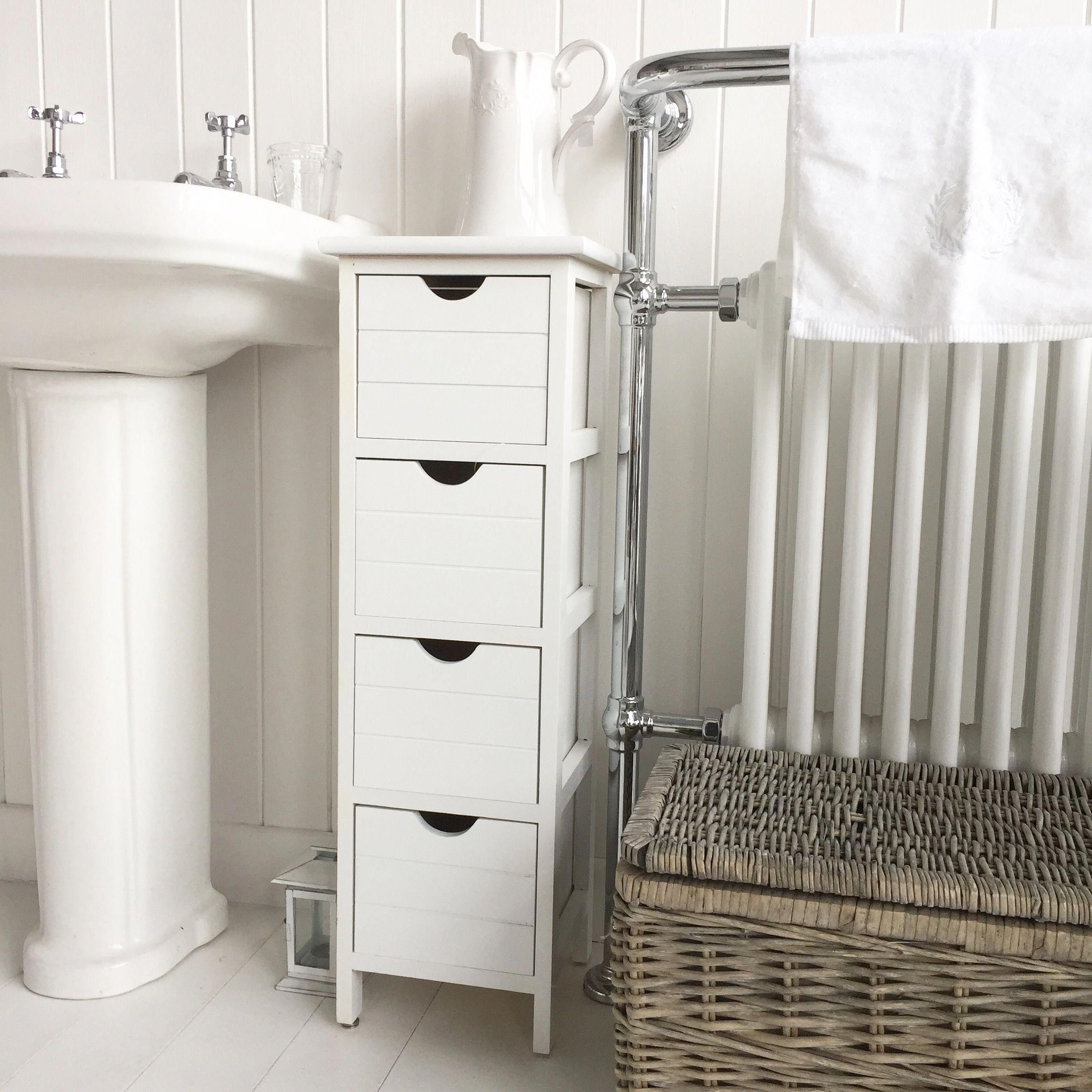 Narrow Bathroom Storage With The Dorset Slim Range Of Furniture Bathroomcupboards Bathroom Furniture Narrow Bathroom Storage White Bathroom Furniture