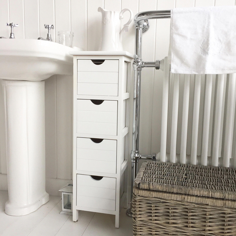 Narrow Bathroom Storage With The Dorset Slim Range Of Furniture Bathroomcupboards Bathroom Furniture Narrow Bathroom Storage White Bathroom Furniture