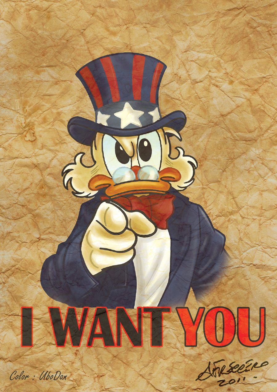 Uncle Scrooge I Want You Freccero By Ubodan Deviantart Com On