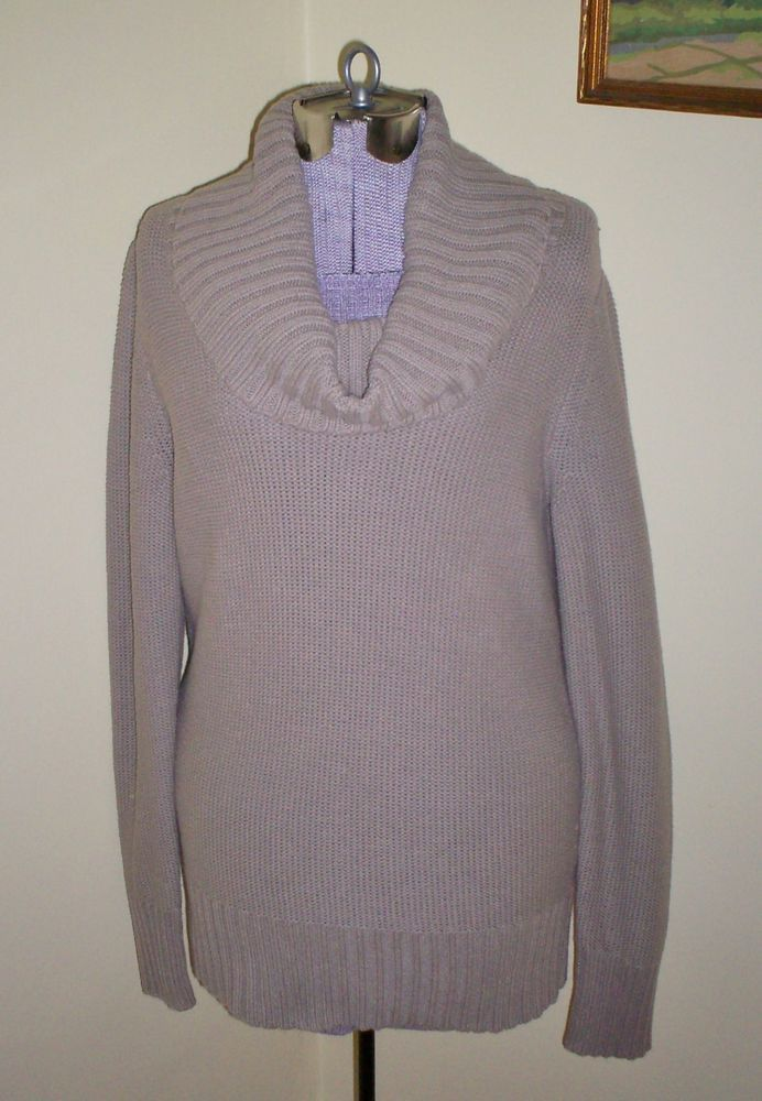 """Womens Size L Old Navy Beige Cowl Neck Sweater 36"""" Bust Excellent Condition LOOK…"""