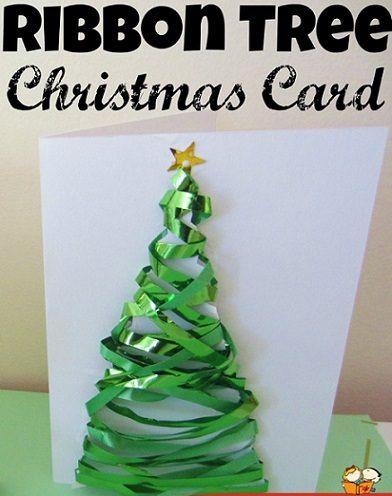 ideas de postales de navidad hechas a mano por nios