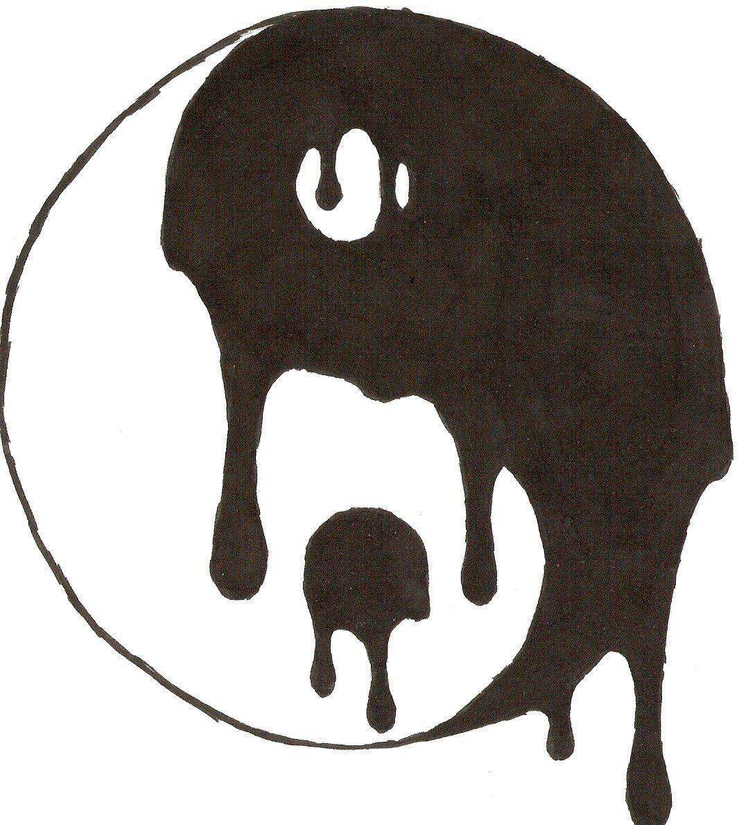 Yin yang design yin yang melt 02 2009 04 18 tattoos for Quick things to draw