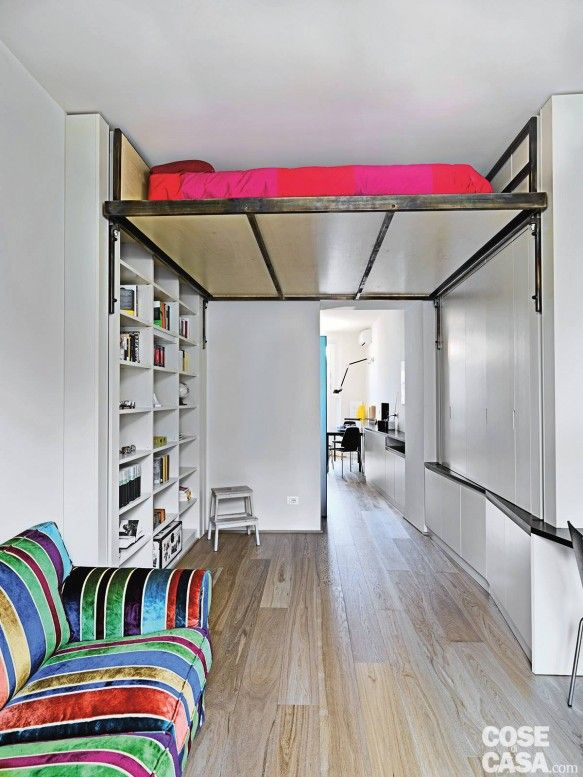 7 Clever Beds Make The Most Of Small Spaces Tiny House For Us Ceiling Bed Small Spaces Small Bedroom