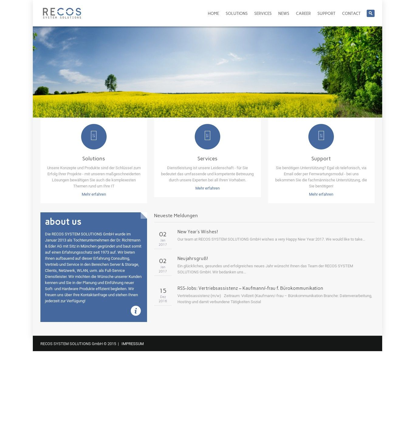 WordPress site alpsys.net uses the Wp theme System