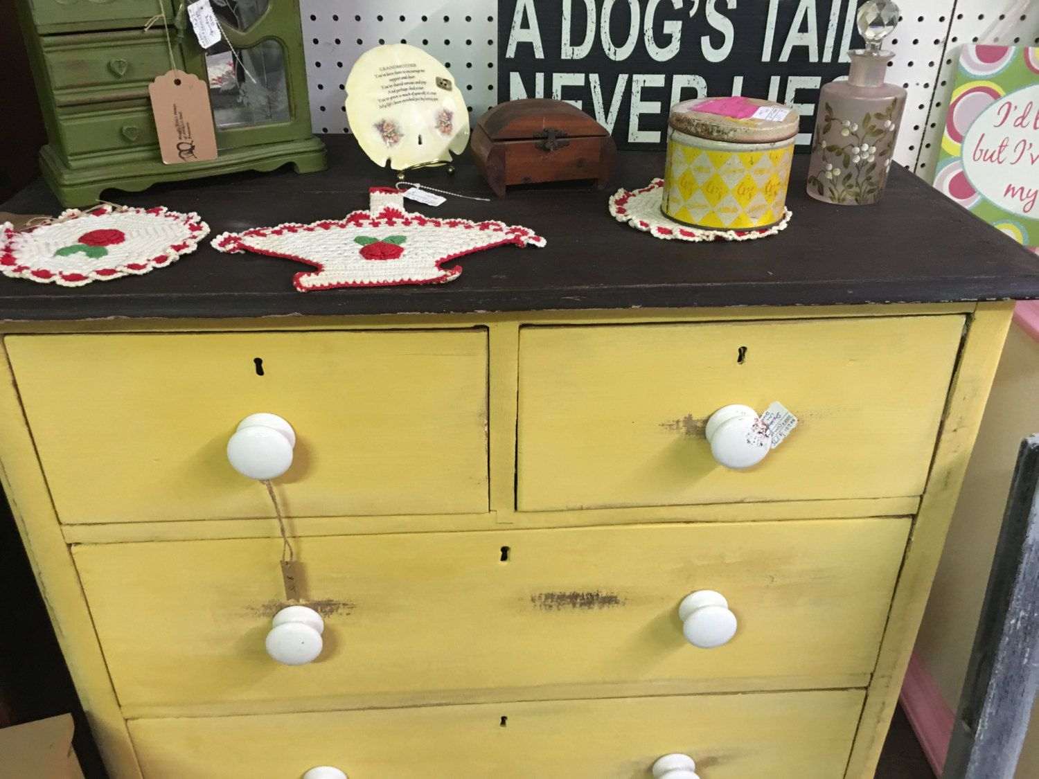 Yellow shabby chic furniture - Yellow Dresser Dresser With Key Holds Shabby Chic Dresser Vintage Dresser Chester Drawers Lingerie Storage