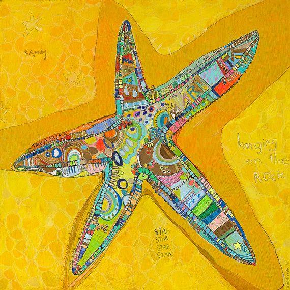 Starfish Canvas Print by Jennifer Mercede 24X24 by jennifermercede, $139.00