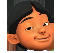 Gambar Kepala Karakter Upin Ipin Format Png Menggambar Kepala Kartun Gambar