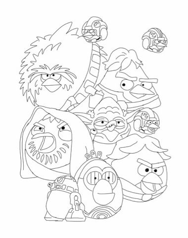 Angry Birds Star Wars Coloring Pages Becscoloringpagesblogspot